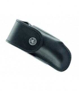 Etui en cuir noir horizontal Salers 12/13 cm