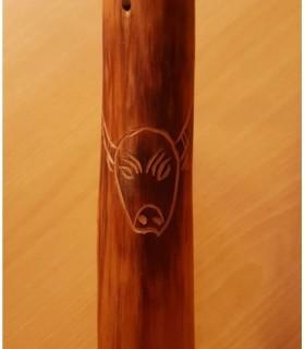 Boufadou en bois gravure Vache