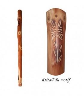 Boufadou en bois gravure Edelweiss