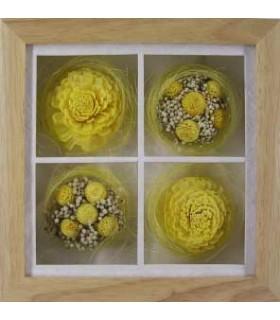 Cadre de Roses jaunes