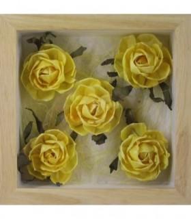 Bouquet de 5 Roses jaunes
