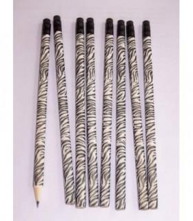 Crayon en bois motif Zebre