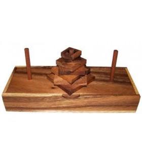 Casse-tête en bois Tour de Hanoï 7 pièces