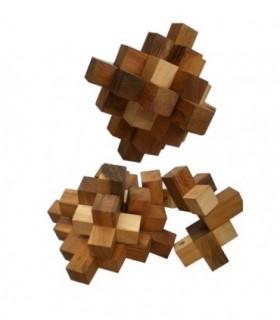 Casse-tête en bois Cube serpent Crystal