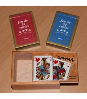 Coffret Jeu de Rami + cartes