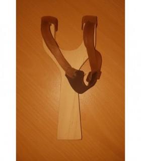 Lance pierre en bois double élastique