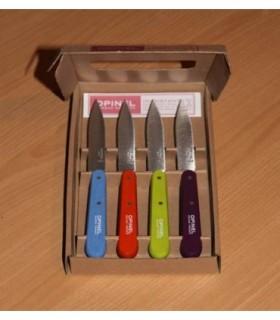 Coffret Opinel 4 couteaux couleur acidulée