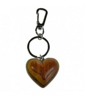 Porte-clé en bois Coeur 1