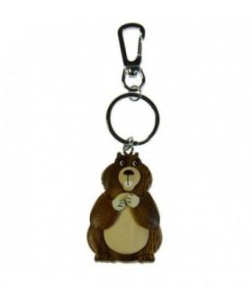 Porte-clé en bois Marmotte