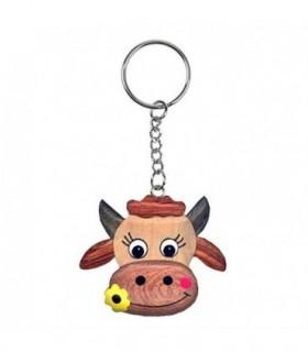 Porte-clé Vache avec fleur