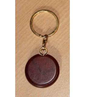 Porte-clef luxe en bois rond (Bois de rose