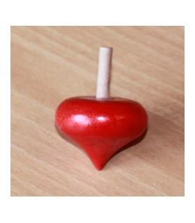 Toupie en buis Coeur couleur rouge