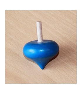 Toupie en buis Coeur couleur bleu