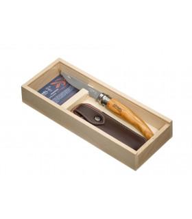 Couteaux effilé Opinel en olivier en coffret cadeaux