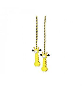 Corde à sauter Girafe manche en bois