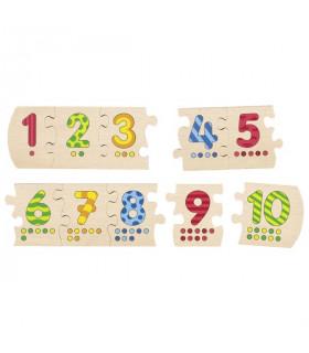 Puzzle en bois apprendre à compter