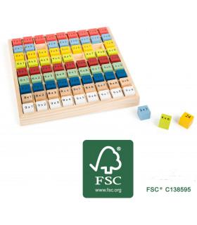 Table de multiplication en couleur (certificat FSC)