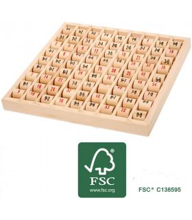 Table de multiplication en bois (bois certifié FSC)